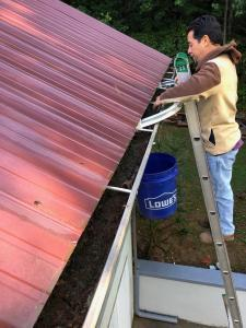 gutter cleaning steps