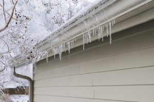 ice damage gutters